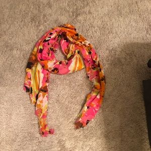 Beautiful floral print scarf